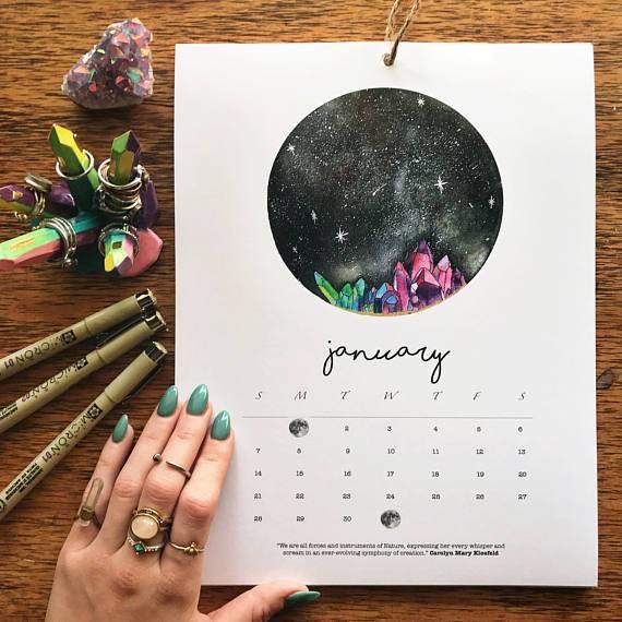 Weihnachtsgeschenke: Mondkalender zum Nachshoppen