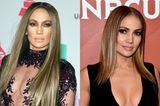 Na klar, wir kennen J. Lo nur mit XXL-Mähne und hellen Highlights. Letztere trägt sie auch Ende des Jahres noch voller Stolz - an Länge haben ihre Haare allerdings drastisch verloren. Wir finden: Steht ihr super!