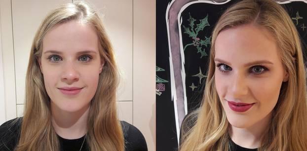 Laura wird professionell geschminkt – vorher-nachher