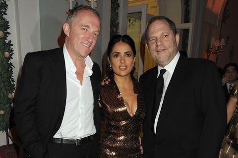 François-Henri Pinault, Salma Hayek und Harvey Weinstein