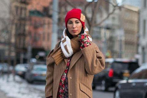Mütze Schal: Blogger in New York