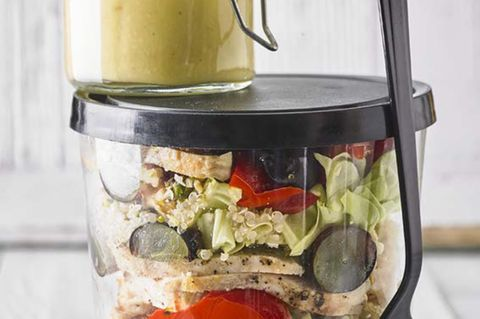 Paprika-Salat mit Hähnchen