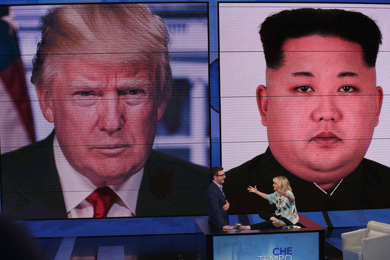 Donald Trump und Kim Jong-un in einer Foto-Montage