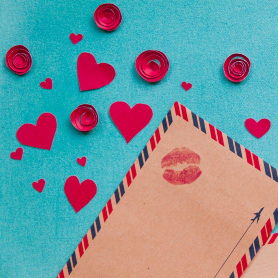 Zum Valentinstag Karten für die Liebsten basteln
