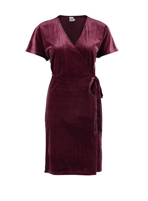 Valentinstag Outfit: Wickelkleid von