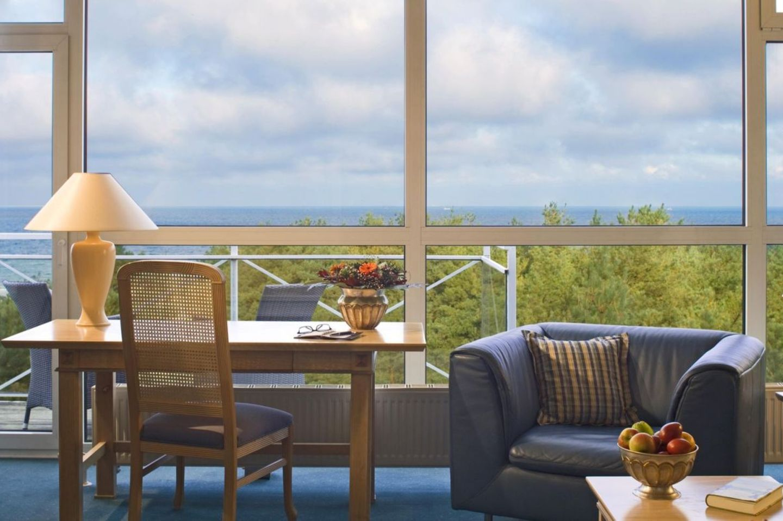 Hotelzimmer mit Blick auf das Meer