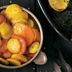 Gebratene bunte Kartoffeln
