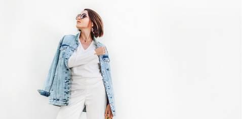 Bloggerin trägt Culotte