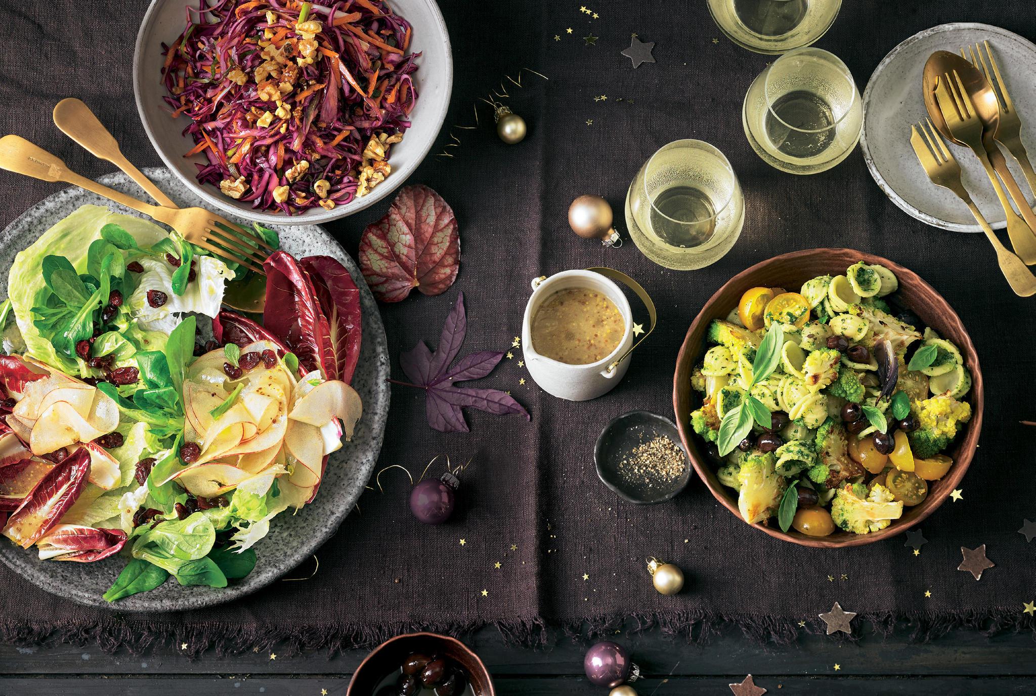 Romanesco-Orecchiette-Salat mit Pesto