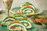 Spinat-Omelett-Röllchen
