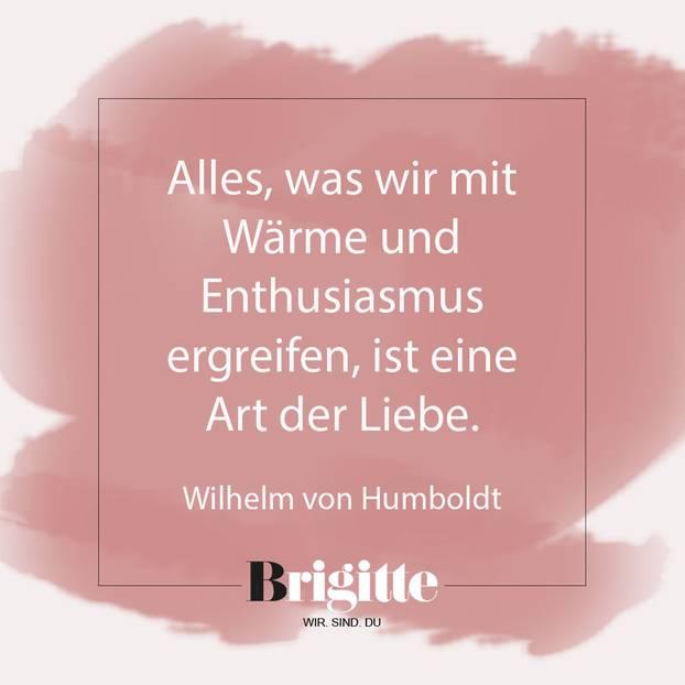 Valentinstag-Sprüche: Zitat von Humboldt