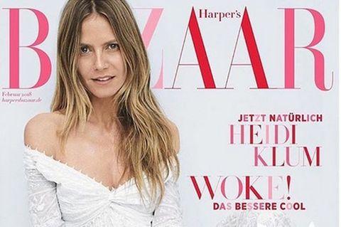 Heidi Klum auf Cover der Harper's Bazaar