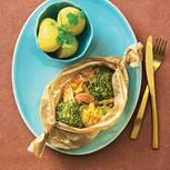Lachspäckchen mit Sauerkraut