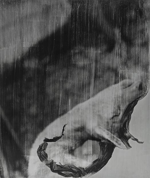 """La danza del capro. #1 | Der Tanz des Bocks. #1², 52 x 43 cm, analoge s-w Fotografie, Fotoemulsion auf Stahl, Handabzug, Unikat, 2017"
