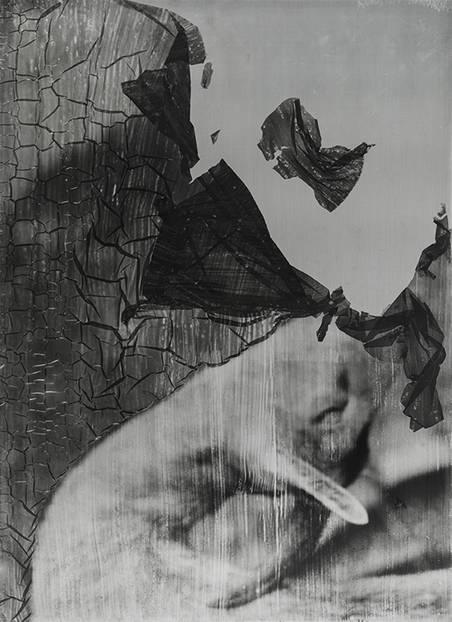 """La danza del capro. #2 | Der Tanz des Bocks. #2², 53 x 38 cm, analoge s-w Fotografie, Fotoemulsion auf Stahl, Handabzug, Unikat, 2017"