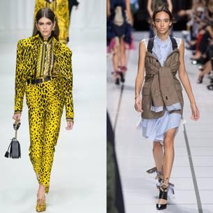 Modelle mit neuen Modestücken vom Catwalk