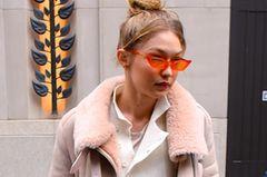 Winter Outfit an Gigi Hadid auf der Straße