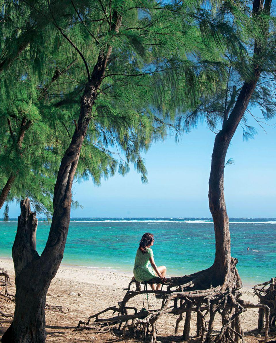 """Weites Blau: Der schönste Strand der Insel ist der """"Plage de l'Hermitage"""""""