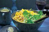 Couscous-Bowl mit Käsecreme