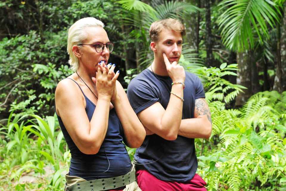 Natascha und David verzweifeln an der Schatzsuche.