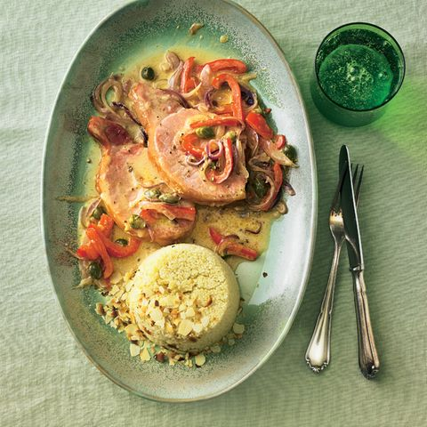 Paprika-Kasseler mit Couscous