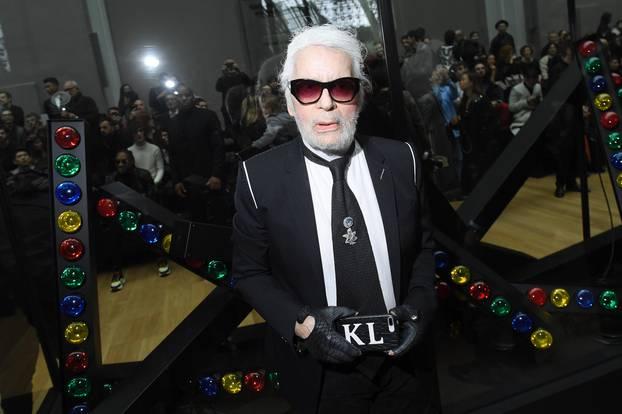 Karl Lagerfeld mit Bart