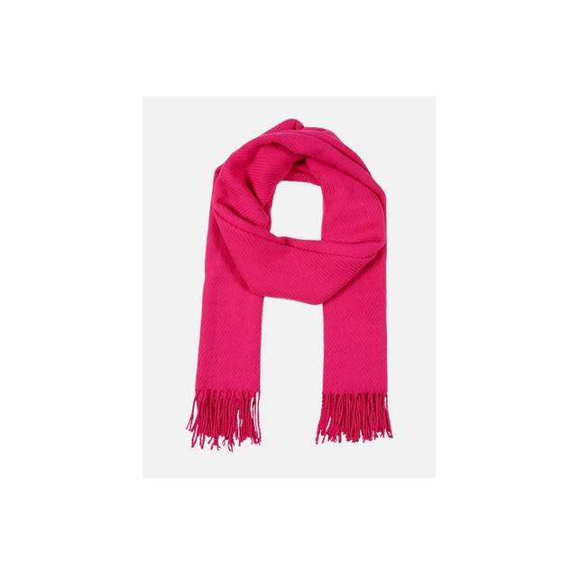 Für besonders kühle Herbsttage: Pinker Schal mit langen Fransen. Über About You, um 17 Euro. Während der BRIGITTE Shopping Days könnt ihr im Onlineshop 15 Pronzent sparen.