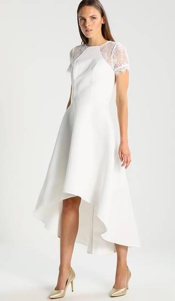 Günstige Brautkleider: Vokuhila Brautkleid