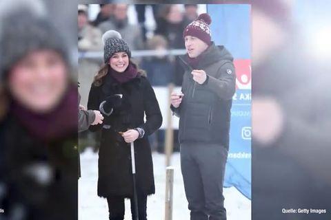 Prinz William und Herzogin Catherine beim Hockey
