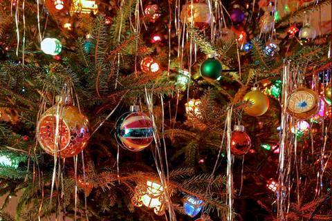 Weihnachtsbaum mit Lametta