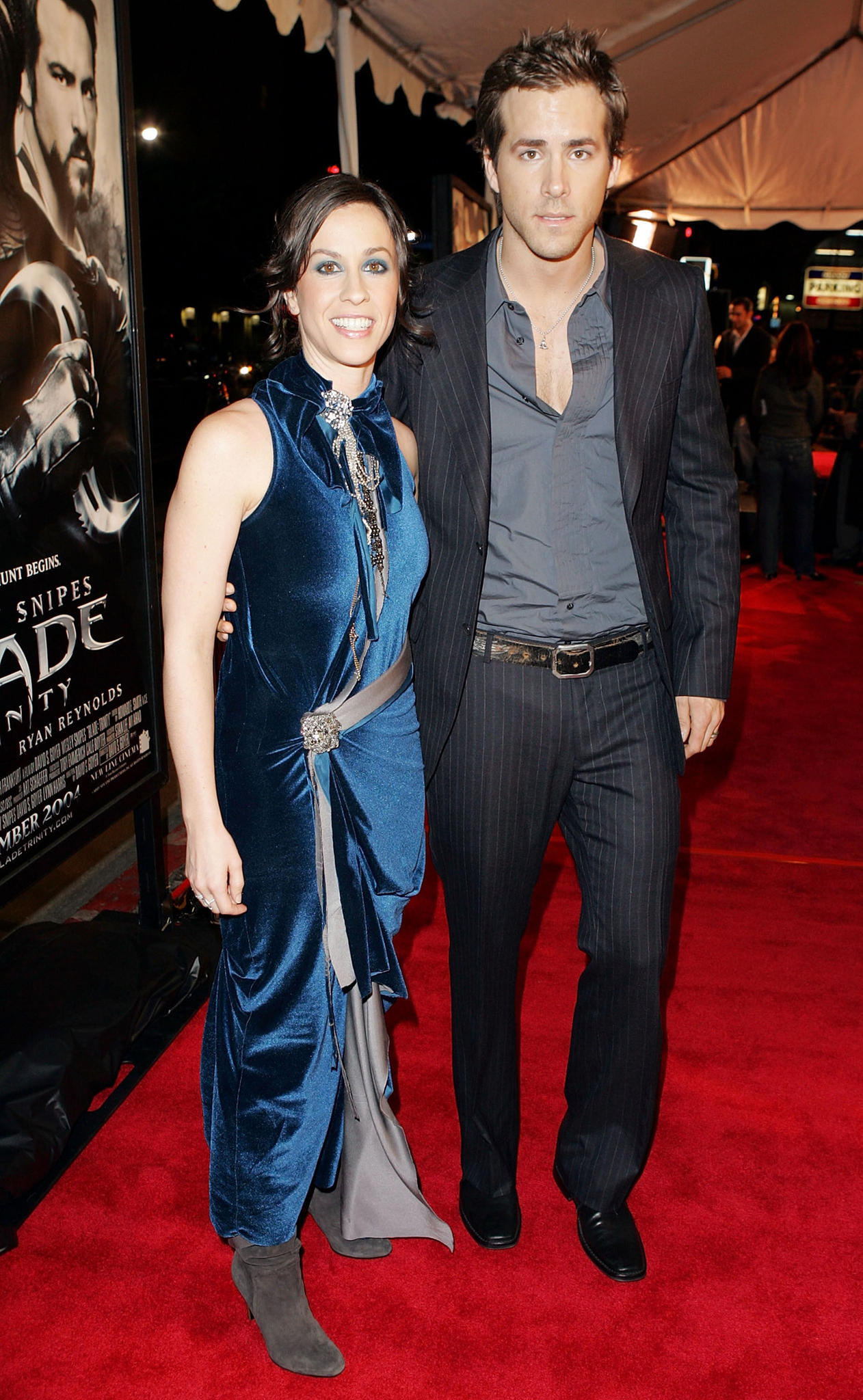 Von 2002 bis 2007 war Ryan Reynolds schwer in Sängerin Alanis Morissette verliebt.