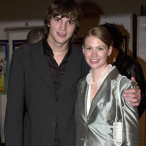 Ashton Kutcher und January Jones gaben zwischen 1998 bis 2001 ein süßes Paar ab.