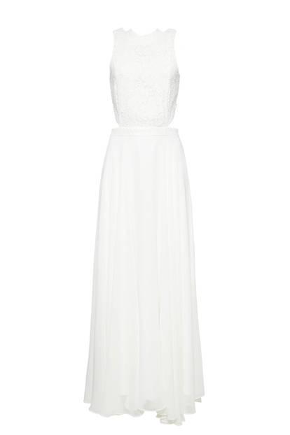 Spitzen-Kleid mit Cut-outs von Esprit