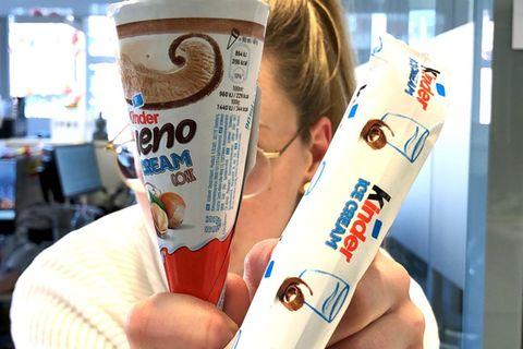 Kinder Schokolade und Kinder Bueno gibt es jetzt als Eis - wir haben's getestet!