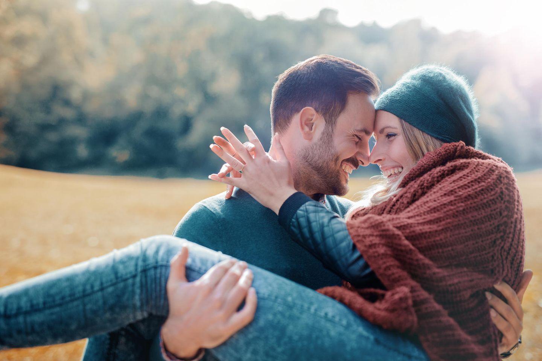 Liebesbeweis: Glückliches Pärchen