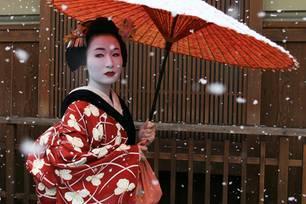 War eine Geisha wirklich das Vorbild für den Karnevals-Look von Doris Schröder-Köpf?