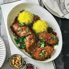 Persisches Hähnchen mit Granatapfel und Pilaw