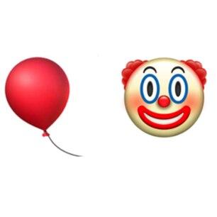 Emoji-Filmquiz: Ein roter Ballon und ein Clown als Emojis