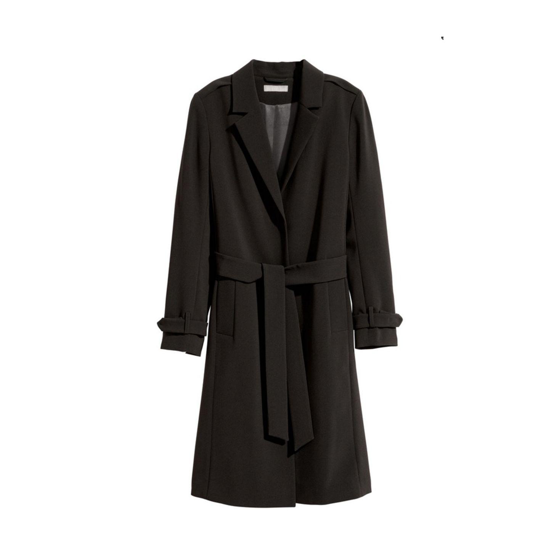 Mantel in Schwarz von H&M