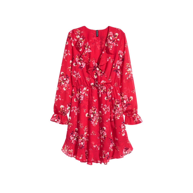 Wickelkleid in Rot von H&M