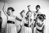 Hochzeitsfotos 2018: Brautjungfern albern herum
