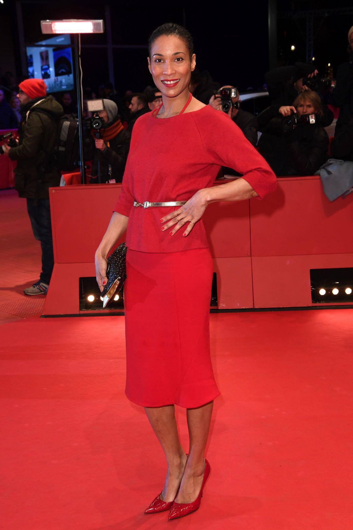 Berlinale 2018: Annabelle Mandeng auf dem Roten Teppich