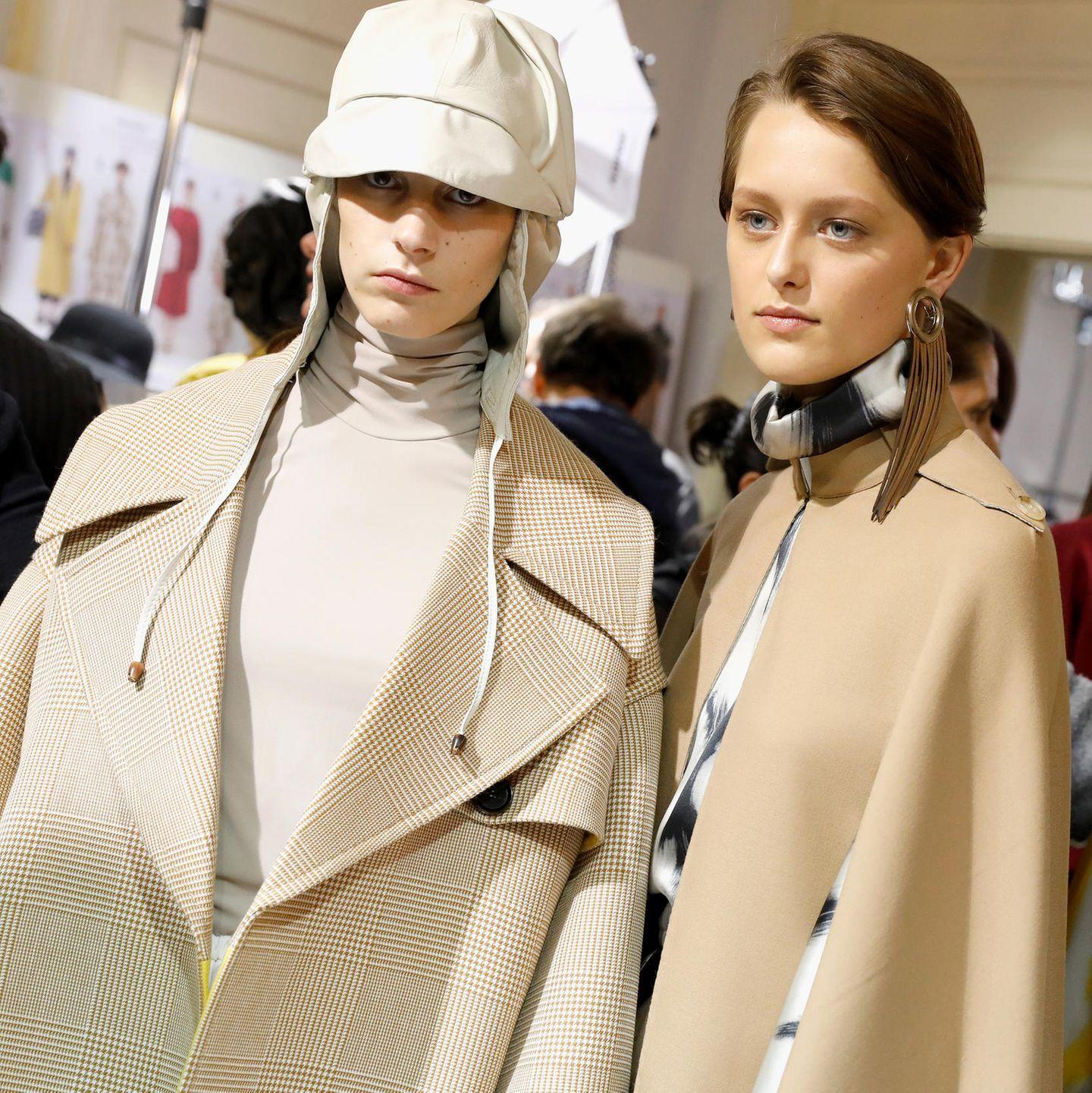 Mailänder Modewoche: Kopfbedeckung bei Mila Schön