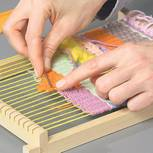 Webteppich selber machen: Teppich im Boho-Style