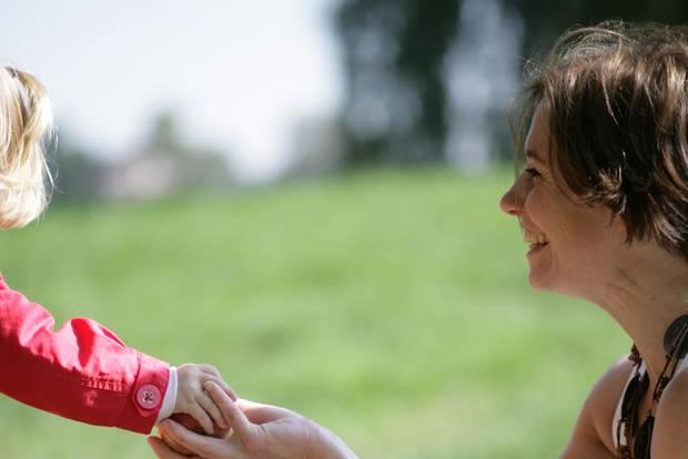 Geneviève Moreau mit Kind