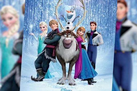 Eiskönigin 2: Die Hauptfiguren auf dem Poster versammelt