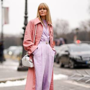 Paris Fashion Week: Streetstylestar in Pastell-Outfit