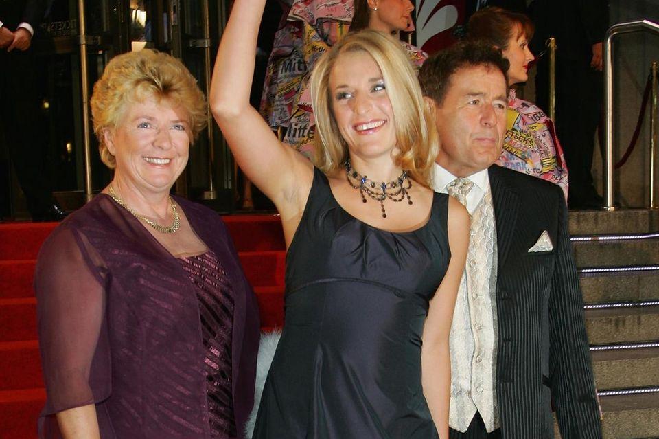 Stefanie Hertel mit Mutter Elisabeth und Vater Eberhard.