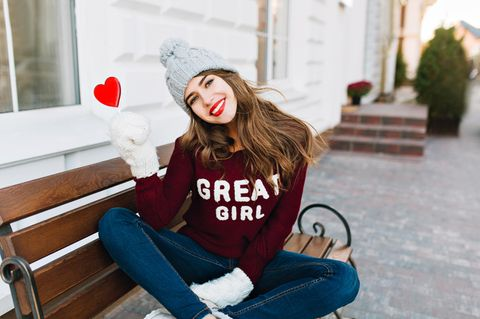 Komplimente an uns selbst: Mädchen mit Herz