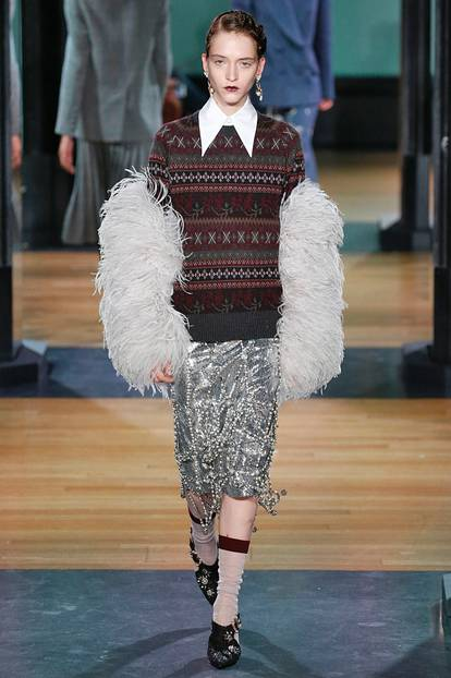 London Fashion Week: Flauschiger Look
